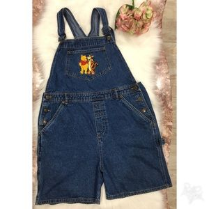 Winnie the pooh Jean overall shorts